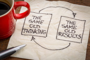 thinking and results feedback loop - problem-solving - Reinvigoration